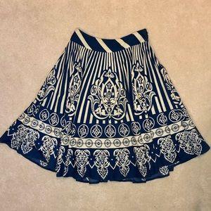 Anthropologie Blue & White Skirt
